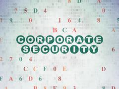Stock Illustration of Security concept: Corporate Security on Digital Paper background