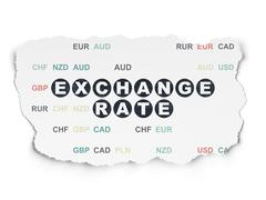 Stock Illustration of Currency concept: Exchange Rate on Torn Paper background