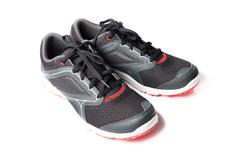 New unbranded running shoe color black and red, sneaker or trainer isolated  Stock Photos