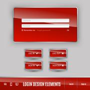 Stock Illustration of Login Template