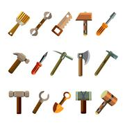 Building Instrument Icons Set Piirros