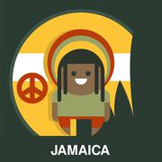 Jamaican Man in Bright Clothes Vector Illustration - stock illustration