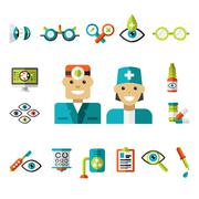 Optical icons, Ophthalmology Icons Set - stock illustration