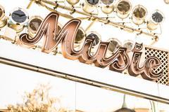 Music symbol sign - stock photo