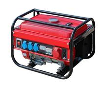 Portable power generator isolated with clipping path included - stock photo