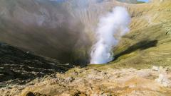 4K Timelapse. Caldera volcano Bromo. East Java, Indonesia Stock Footage
