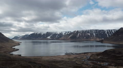 Clouds over fjord Iceland Landscape 4K Timelapse - stock footage