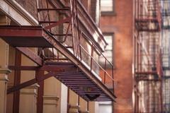 Soho fire escape, New York, United States of America, North America - stock photo