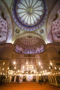 Blue Mosque interior (Sultan Ahmed Mosque) (Sultan Ahmet Camii), UNESCO World Stock Photos