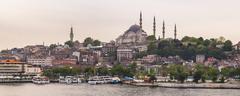 Suleymaniye Mosque, UNESCO World Heritage Site, seen across Golden Horn, Stock Photos