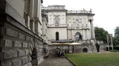 West Elevation Tate Britain Gallery, London Stock Footage