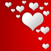 Illustration vibrant background on Valentine's Day. - stock illustration