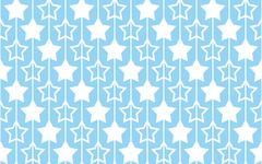 Seamless pattern with stars on blue background. - stock illustration