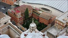 ULTRA HD 4K real time shot,Aerial view of St.Peters and Vatican Square , Rome, - stock footage