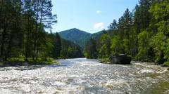 mountain river landscape, Altai, Russia, 4k - stock footage