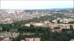 ULTRA HD 4K real time shot,Aerial view of St.Peters and Vatican Square , Rome, Stock Footage