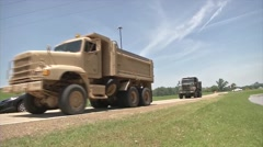 Louisiana National Guard Defends Against Flood Stock Footage