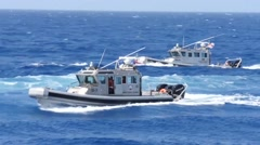 Illicit Trafficking & Vessel Search Scenario Stock Footage