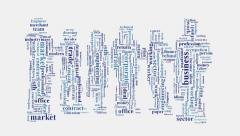 Business company commercial commerce intelligence word cloud Stock Footage