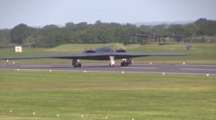 Whiteman B-2 Spirit stealth bomber Practice Key Capabilities in U.K. Stock Footage