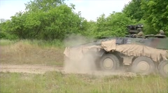 Boxer Multi-Roll armoured fighting vehicle  army operations Stock Footage