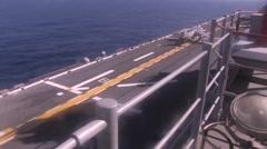 AV-8B Harrier jets aboard the USS Bonhomme Richard Stock Footage