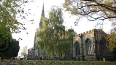 Best shot of English Church (St Andrew's Church in Kegworth, England) Stock Footage
