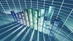 Animated business bar chart for economic concept 4K Stock Footage