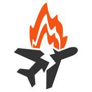 Stock Illustration of Airplane Burn Icon