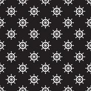 Seamless nautical pattern Stock Illustration