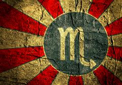 astrology symbol scorpion - stock illustration