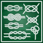 Sailor knot set Stock Illustration
