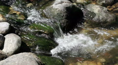 Water Cascading Down Over Rocks Ashland Oregon Stock Footage