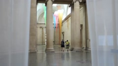 Entrance Hall, Tate Britain Gallery, London - stock footage
