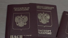 Russian passports Stock Footage