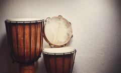 Various Percussion Instruments Stock Photos