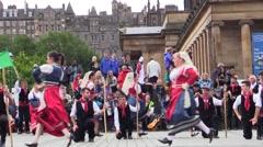 Tarantella italian folk dance. Pizzica, taranta. - stock footage