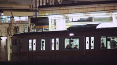 Panning shot of  the train lines at Ochanomizu Station, Tokyo Stock Footage