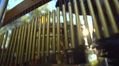 KRASNODAR, RUSSIA -street drummers play chimes Stock Footage