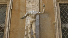 Headless figure. Handheld stabilized shot. Rome, Italy. - stock footage
