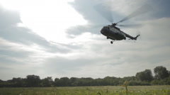 Russian police helicopter Stock Footage