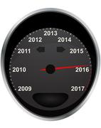 Illustration of years odometer, 2016 year Stock Illustration