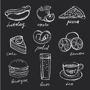 Menu Icons - stock illustration