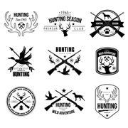 Stock Illustration of Badges Labels Logo Design Elements Hunting
