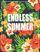 Summer poster Typography Vector Stock Illustration