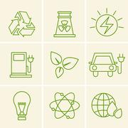 Ecology icons Stock Illustration