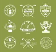 Set of golf club logos, labels and emblems Stock Illustration