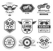 Badges Motorcycle Collections - stock illustration
