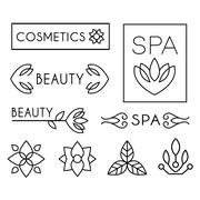 Vector Beauty and Care logo Templates Stock Illustration