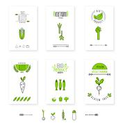 Stock Illustration of Healthy food card vegetables vegetarians eco-friendly
